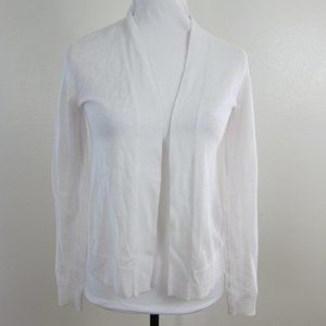 Old Navy Open Sweater Shrug White XS Long Sleeves